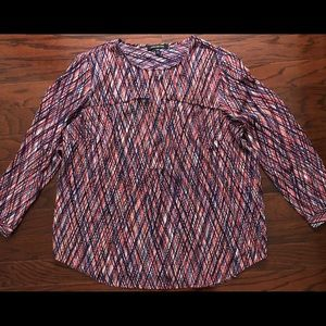 Jones New Year multi-striped blouse